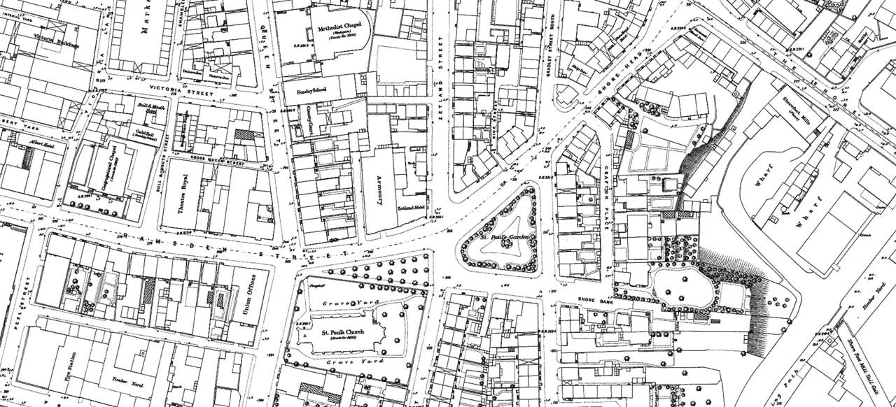 Huddersfield Exposed Mapping Project 1890 Town Plan
